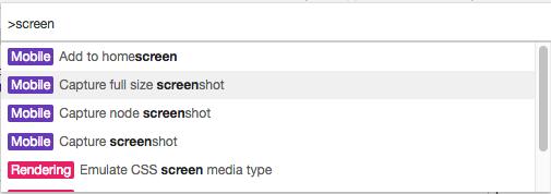 Chrome capture screenshot
